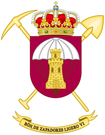 Coat of arms (crest) of the Light Sapper Battalion VI, Spanish Army
