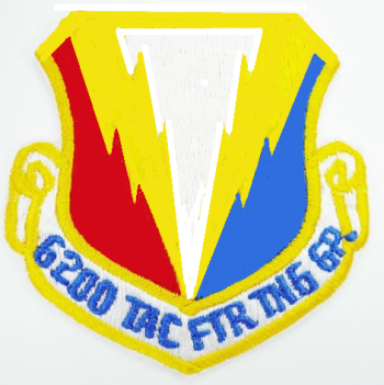 Coat of arms (crest) of the 6200th Tactical Fighter Training Group, US Air Force