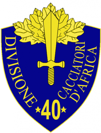 Coat of arms (crest) of the 40th Infantry Division Cacciatori d'Africa, Italian Army