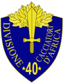 40th Infantry Division Cacciatori d'Africa, Italian Army.png