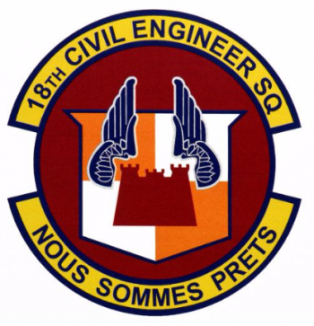 Coat of arms (crest) of the 18th Civil Engineer Squadron, US Air Force