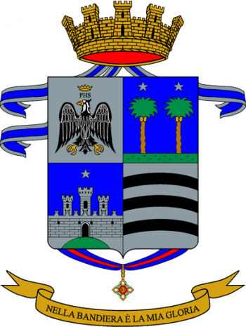 Coat of arms (crest) of the 57th Infantry Regiment Abruzzi, Italian Army