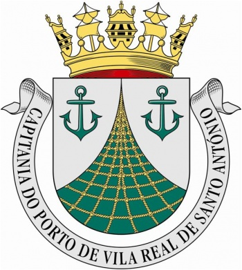 Coat of arms (crest) of the Harbour Captain of Vila Real do Santo António, Portuguese Navy