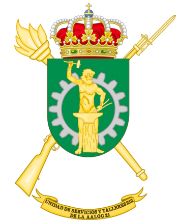 Coat of arms (crest) of the Logistics Services and Mechanical Workshops Unit 212, Spanish Army