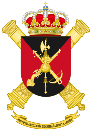 Coat of arms (crest) of the Field Artillery Group II of the Legion, Spanish Army