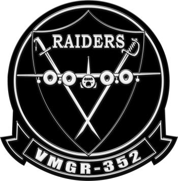 Coat of arms (crest) of the VMGR-352 Raiders, USMC