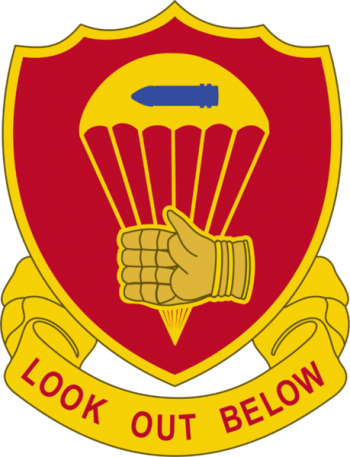 Arms of 376th Parachute Field Artillery Battalion, US Army