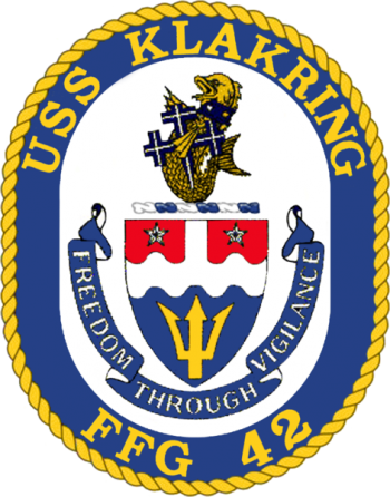 Coat of arms (crest) of the Frigate USS Klakring (FFG-42)