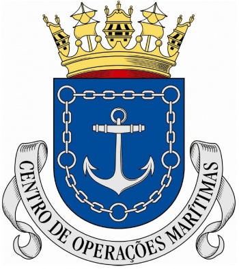 Coat of arms (crest) of the Maritime Operations Center, Portuguese Navy