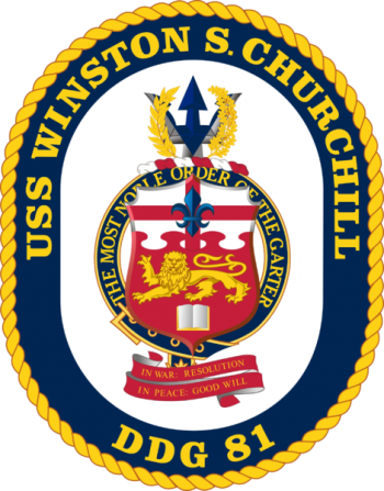 Coat of arms (crest) of the Destroyer USS Winston S. Churchill