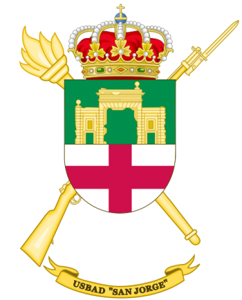Coat of arms (crest) of the Discontinuous Base Services Unit San Jorge, Spanish Army