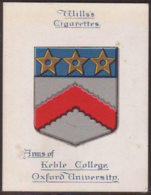 Arms of Keble College (Oxford University)