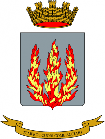 Coat of arms (crest) of the Armoured Troops Specialist School, Italian Army