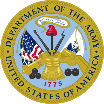 Coat of arms (crest) of the Department of the Army, USA