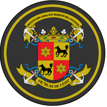 Coat of arms (crest) of the Frigate Blas de Lezo, Spanish Navy