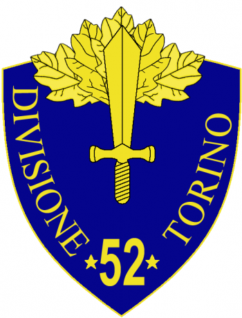Coat of arms (crest) of the 52nd Infantry Division Torino, Italian Army