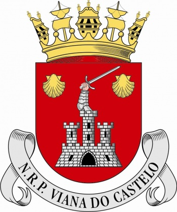 Coat of arms (crest) of the Ocean Patrol Vessel NRP Viana do Castelo, Portuguese Navy