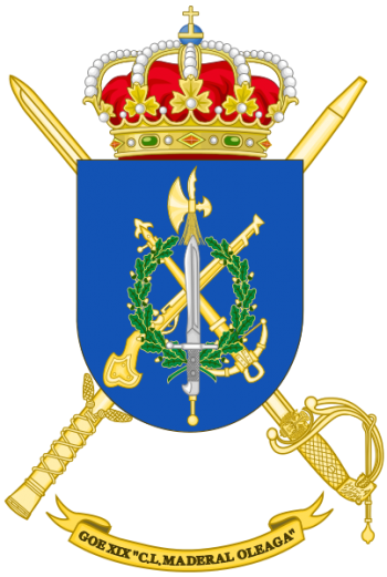 Coat of arms (crest) of the Special Operations Bandera C.L. Maderal Oleaga XIX, Spanish Army