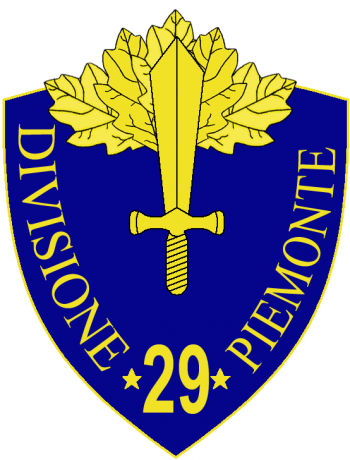 Coat of arms (crest) of the 29th Infantry Division Piemonte, Italian Army
