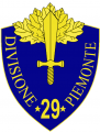 29th Infantry Division Piemonte, Italian Army.png