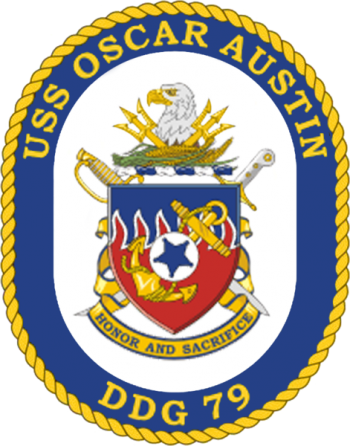 Coat of arms (crest) of the Destroyer USS Oscar Austin