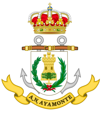 Coat of arms (crest) of the Naval Assistantship Ayamonte, Spanish Navy