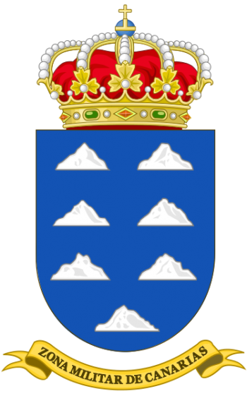 Coat of arms (crest) of the Canary Islands Military Zone, Spanish Army