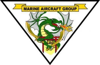 Coat of arms (crest) of the Marine Aircraft Group 16, USMC
