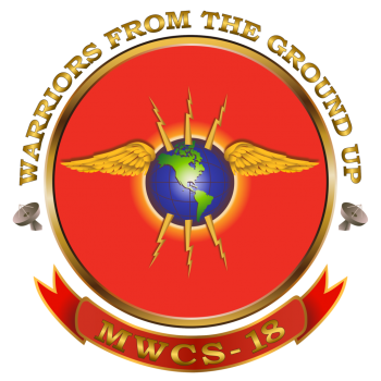 Coat of arms (crest) of the Marine Wing Communications Squadron (MWCS)-18 Warriors From The Ground Up, USMC