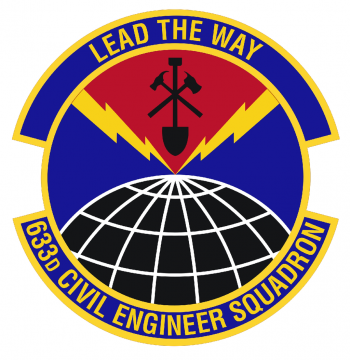 Coat of arms (crest) of the 633rd Civil Engineer Squadron, US Air Force