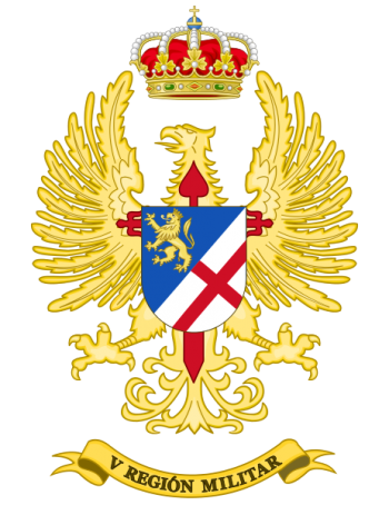 Coat of arms (crest) of the V Military Region, Spanish Army