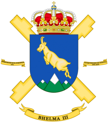 Coat of arms (crest) of the Maneuver Helicopter Battalion III, Spanish Army
