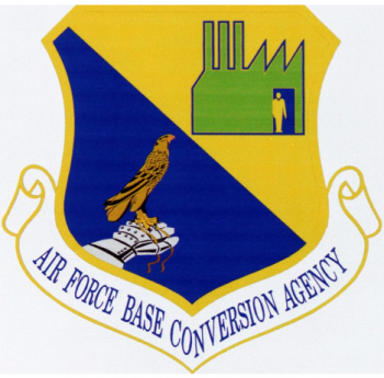 Coat of arms (crest) of the Air Force Base Conversion Agency, US Air Force
