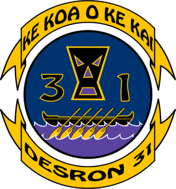 Coat of arms (crest) of the Destroyer Squadron Thirtyone, US Navy