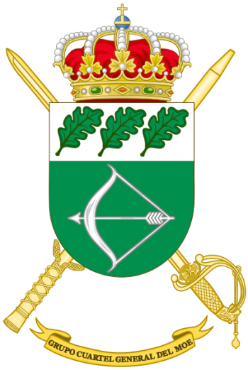 Coat of arms (crest) of the Special Operations Command Headquarters Group, Spanish Army