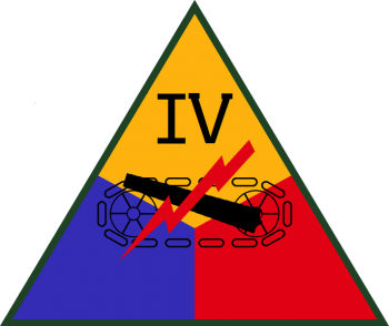 Coat of arms (crest) of the IV Armored Corps, US Army