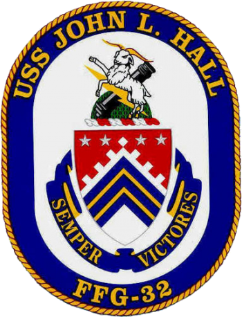 Coat of arms (crest) of the Frigate USS John L. Hall (FFG-32)