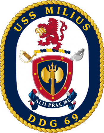 Coat of arms (crest) of the Destroyer USS Milius