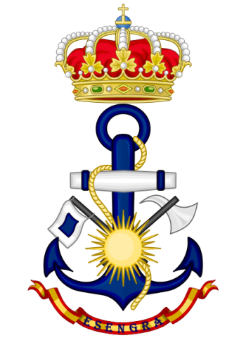 Coat of arms (crest) of the La Graña Naval Sepcialist School, Spanish Navy