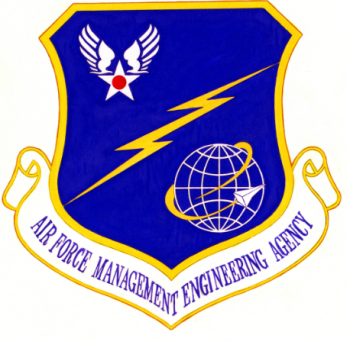 Coat of arms (crest) of the Air Force Management Engineering Agency, US Air Force