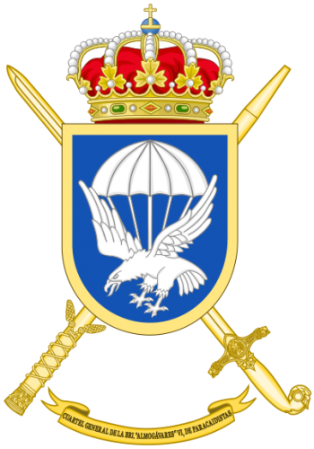 Coat of arms (crest) of the Brigade Almogávares VI of Parachutists Headquarters, Spanish Army