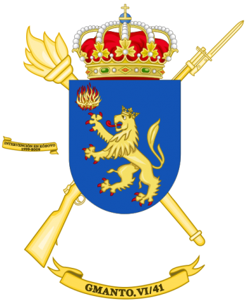 Coat of arms (crest) of the Logistics Maintenance Group VI-41, Spanish Army