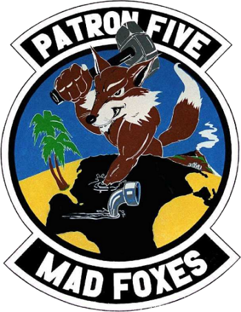 Coat of arms (crest) of the VP-5 Mad Foxes, US Navy