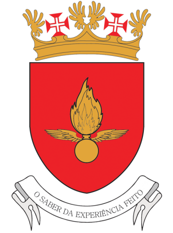 Arms of Fireing Range Camp, Portuguese Air Force