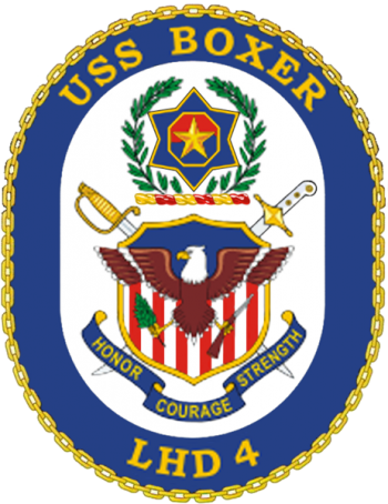 Coat of arms (crest) of the Landing Helicopter Dock USS Boxer (LHD-4)