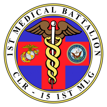 Coat of arms (crest) of the 1st Medical Battalion, USMC