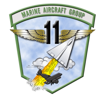 Coat of arms (crest) of the Marine Aircraft Group 11, USMC