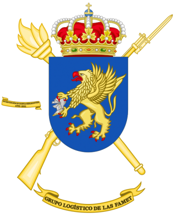 Coat of arms (crest) of the Army Airmobile Force Logistics Group, Spanish Army