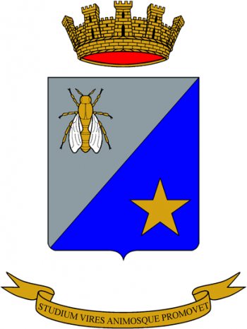 Coat of arms (crest) of the Commissariate and Administration School, Italian Army