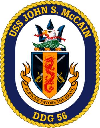Coat of arms (crest) of the Destroyer USS John S. McCain